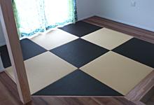 カラー樹脂の琉球畳の写真