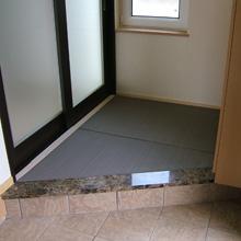 施工事例2:玄関(これも畳です)